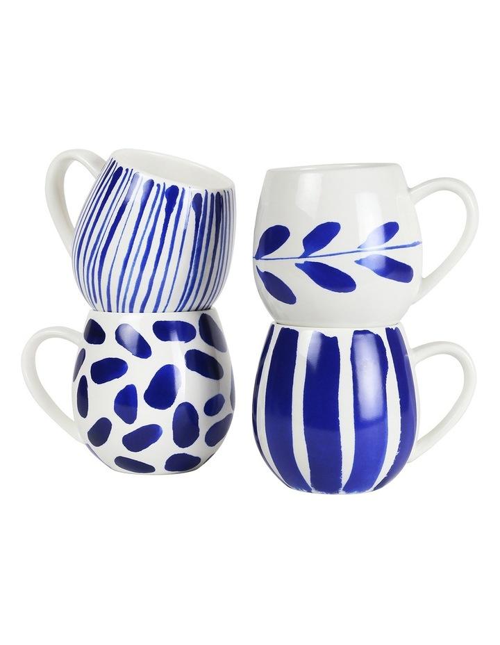 Indigo Brush Mug - Set Of 4 image 1