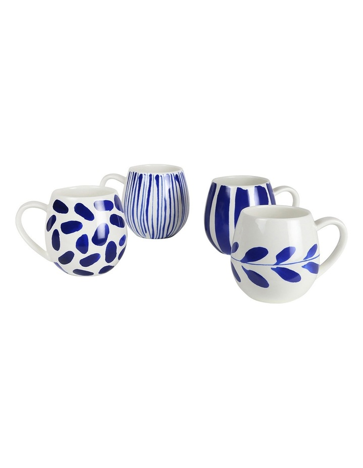 Indigo Brush Mug - Set Of 4 image 2