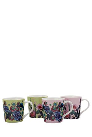 Maxwell & Williams - Palm Springs Mug Set Of 4 (400ML) - Gift Boxed