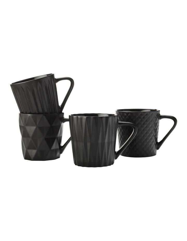 Cosmos Mug Set of 4 400ML Matte Black Gift Boxed image 1