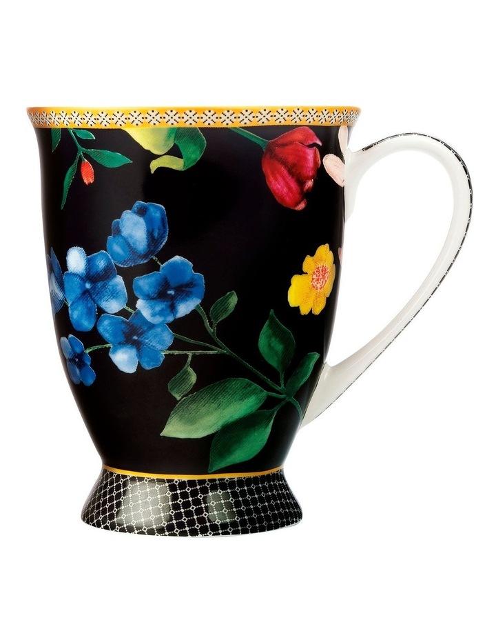 Teas & C's Contessa Footed Mug 300ML Black Gift Boxed image 1