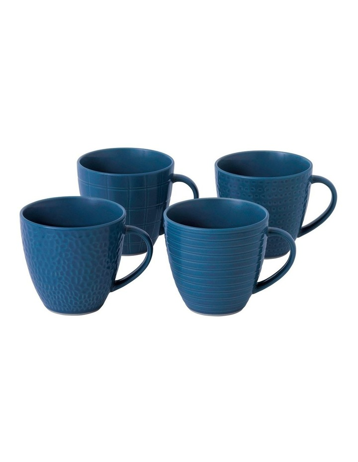 Maze Grill Blue Mug 295ml Mixed (Set 4) image 1