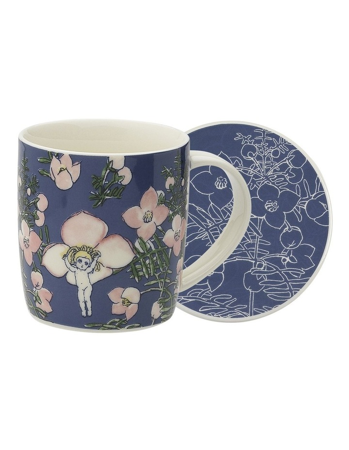 May Gibbs Flower Babies Mug & Coaster 320ml - Blue image 1