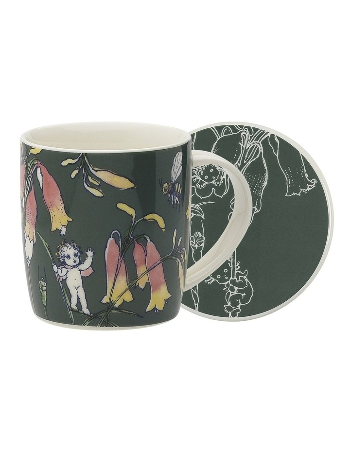 May Gibbs Flower Babies Mug & Coaster 320ml - Dark Green image 1