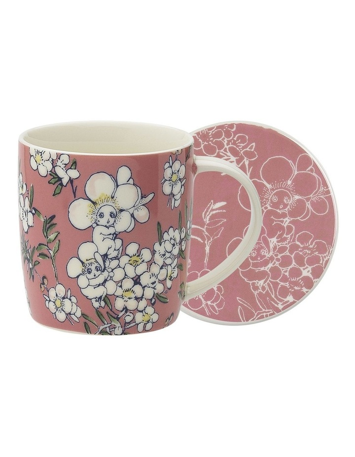 May Gibbs Flower Babies Mug & Coaster 320ml -Pink image 1
