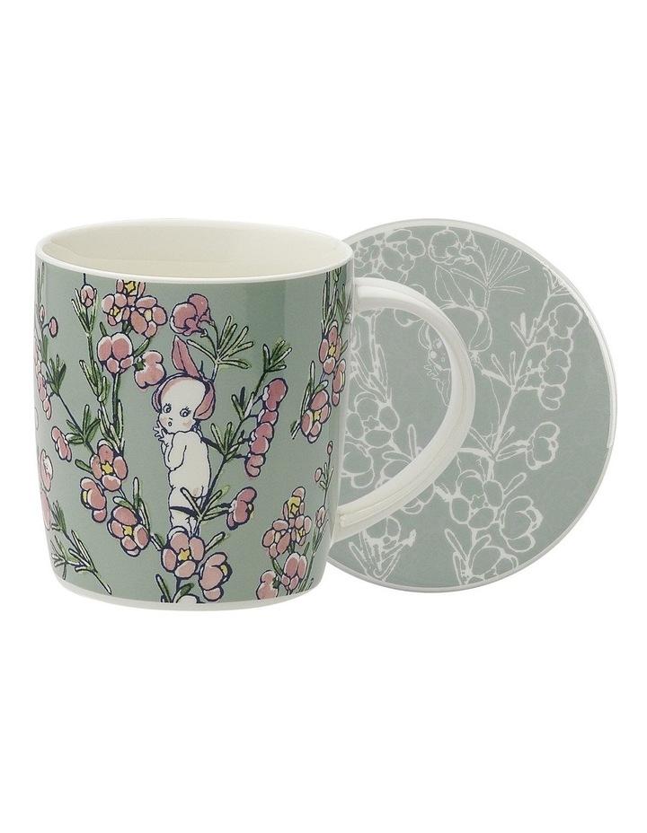 May Gibbs Flower Babies Mug & Coaster 320ml -Light Green image 1