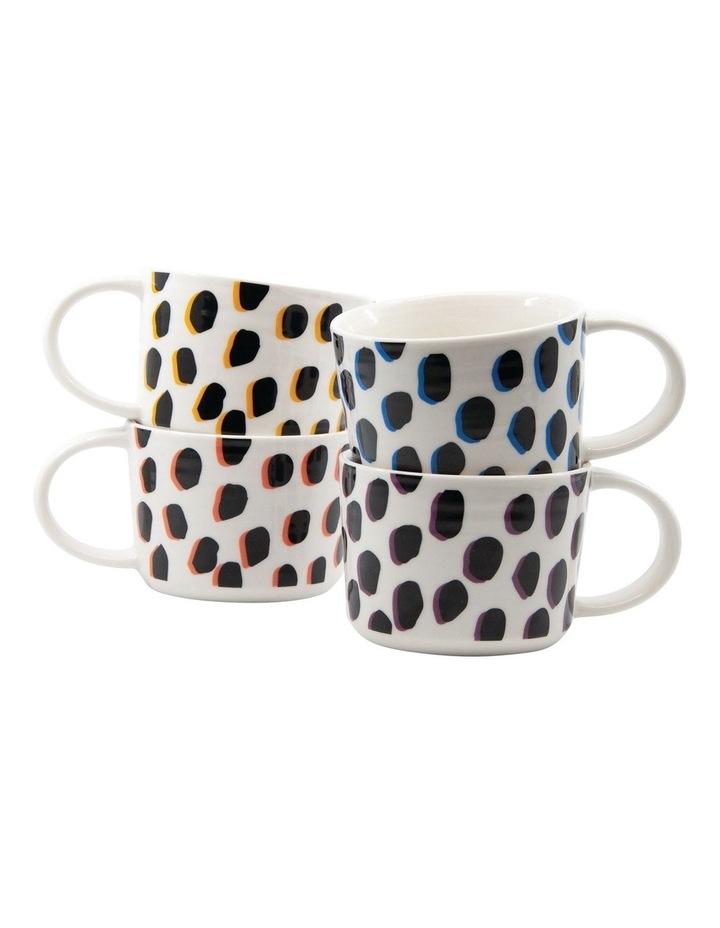 Leopard Mug Set 350ml Set of 4 image 1