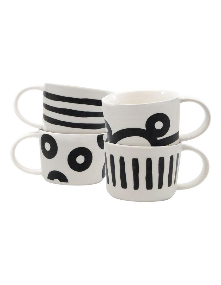 Stencil Mug Set 350ml Set of 4 image 1