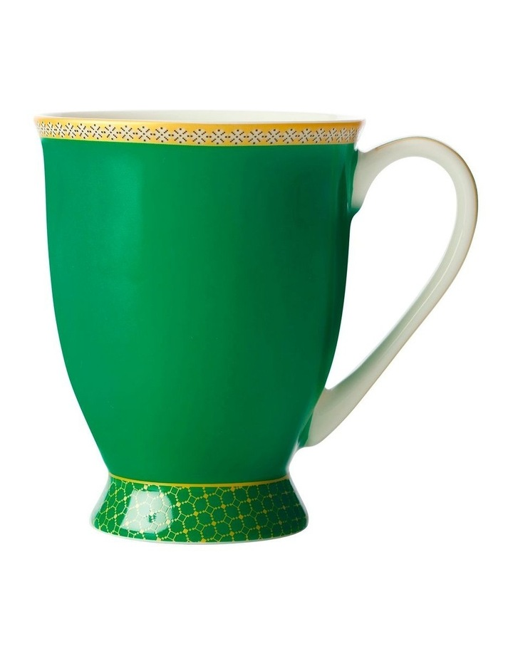 Teas & C's Classic Footed Mug 300ML Green Gift Boxed image 1