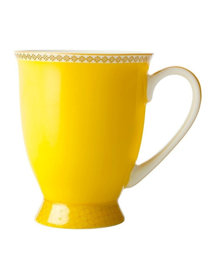 Teas & C's Contessa Classic Footed Mug 300ML Yellow Gift Boxed image 1