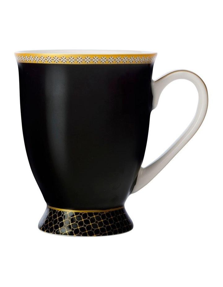 Teas & C's Contessa Classic Footed Mug 300ML Black Gift Boxed image 1
