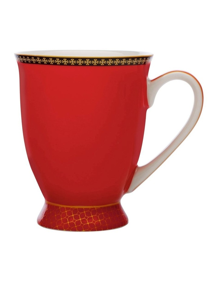 Teas & C's Classic Footed Mug 300ML Red Gift Boxed image 1