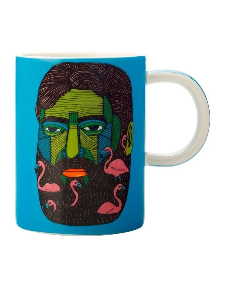 Mulga the Artist Mug 450ML Flamingo Man Gift Boxed image 1