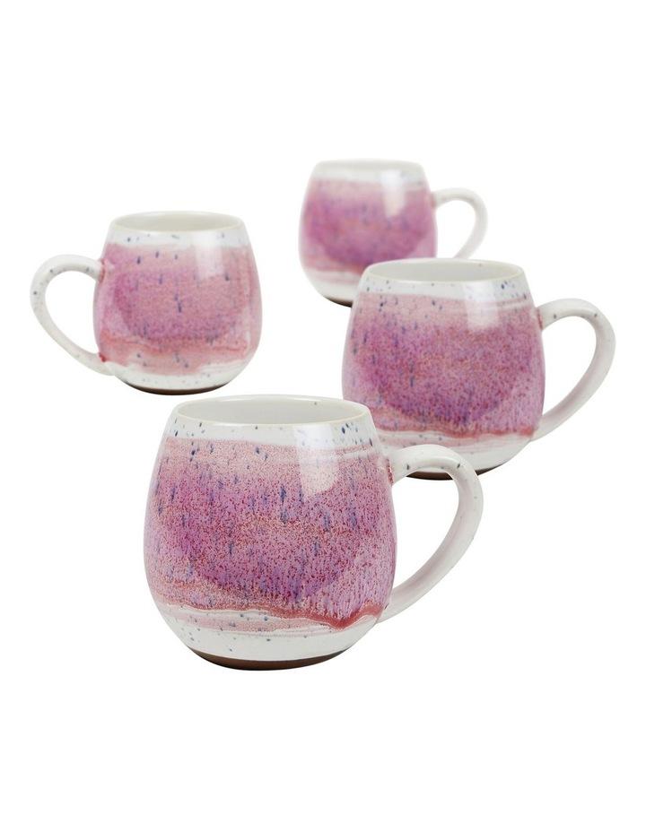 Hug Me Mugs Set of 4 Pink Mediterranean image 1