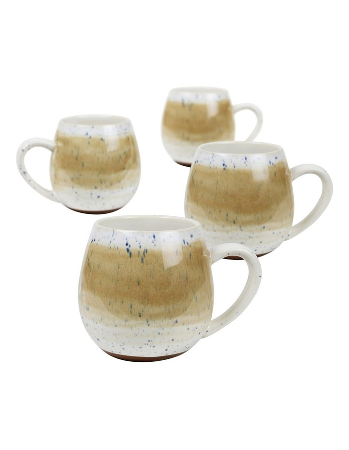 Hug Me Mugs set of 4 Tan Mediterranean image 1