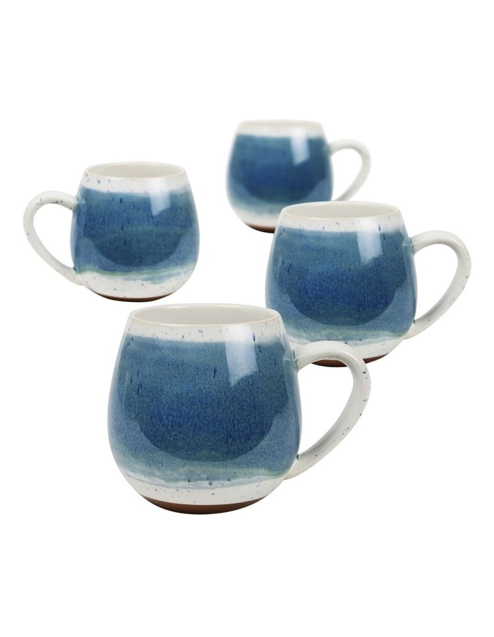 Hug Me Mugs Set of 4 Light Blue Mediterranean image 1