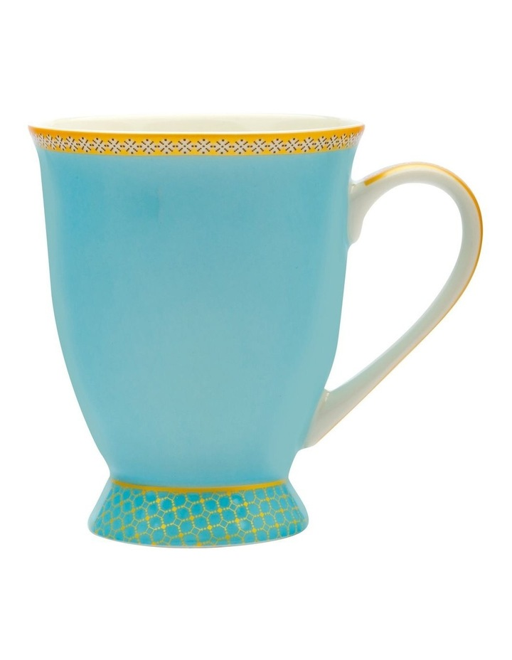 Teas & C's Kasbah Classic Footed Mug 300ML Turquoise Gift Boxed image 1