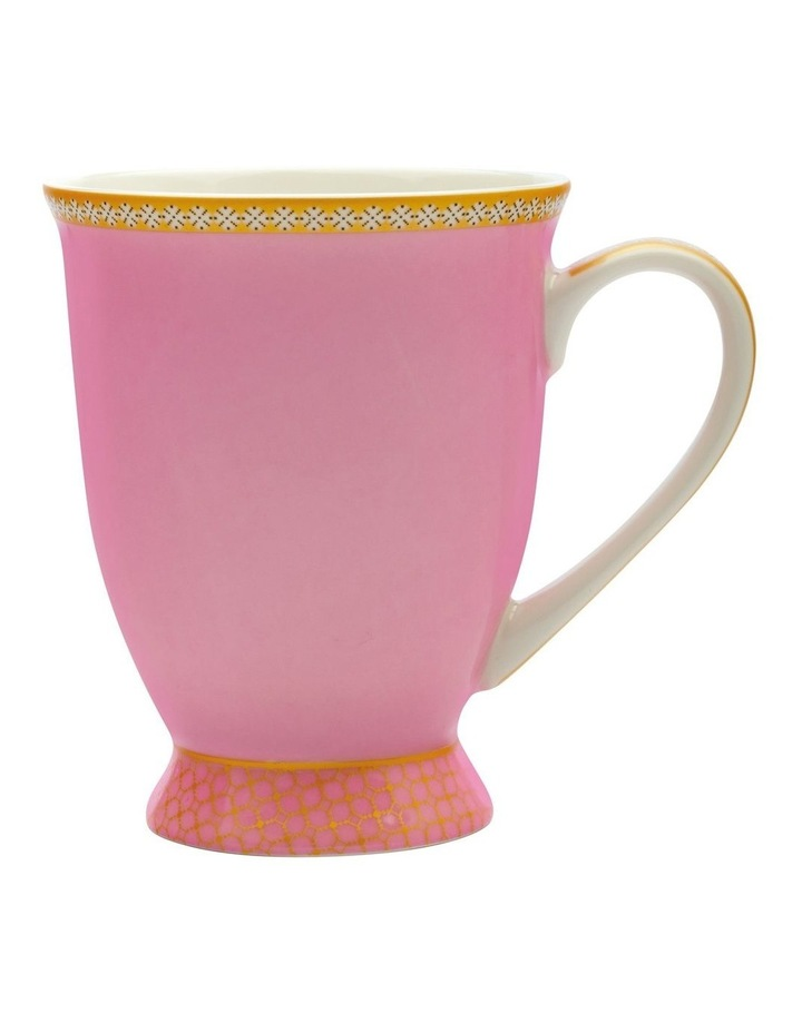 Teas & C's Classic Footed Mug 300ML Hot Pink Gift Boxed image 1