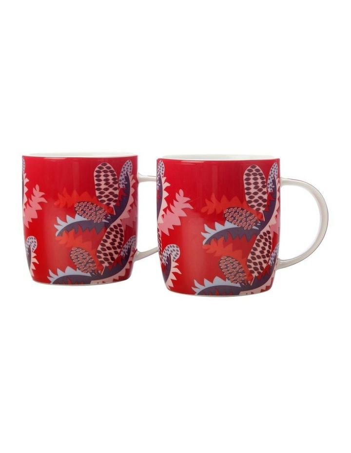 Sassafras Mugs 370ML Set of 2 Red Gift Boxed image 1