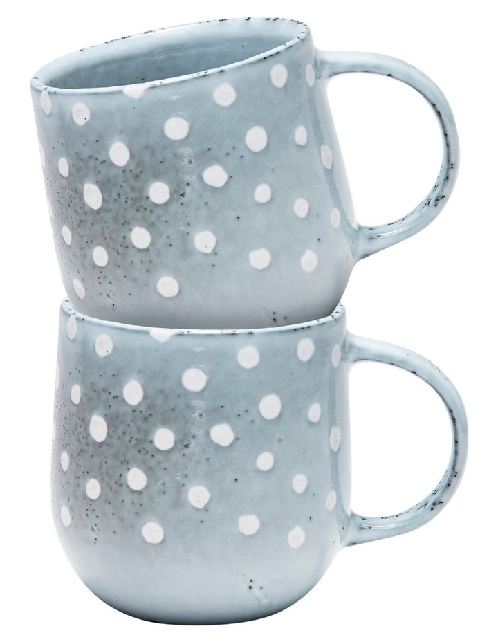 NAOKO Mug - 380ml - Polka Grey - Set of 6 image 3