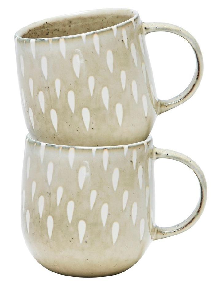 NAOKO Mug - 380ml - Tear Biscuit - Set of 6 image 3