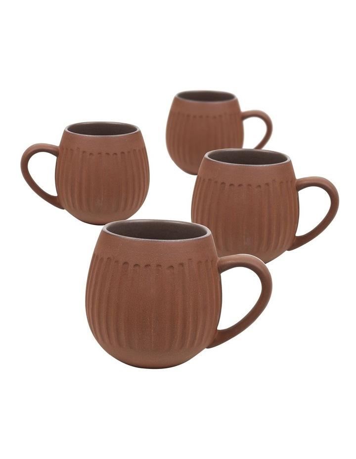 Hug Me 4 Pack Mugs in Dark Clay image 1