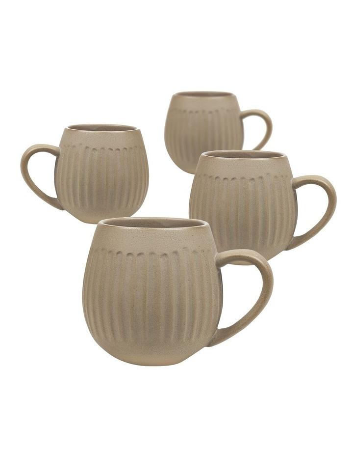 Hug Me 4 Pack Mugs in Light Clay image 1