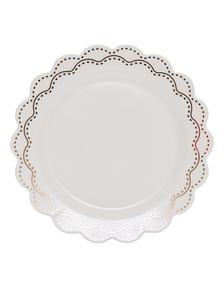 Eclectic Plate - 19Cm - White With Gold image 2