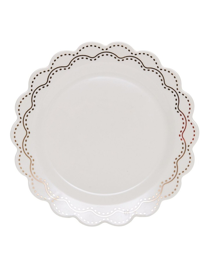 Eclectic Plate - 19Cm - White With Gold image 1