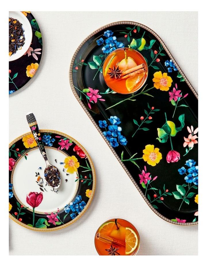 Teas & C's Contessa Rim Plate 19.5cm Black Gift Boxed image 2
