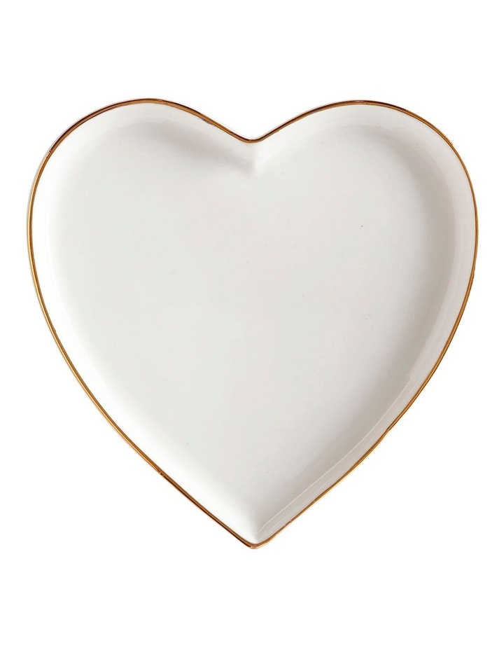 Oro Heart Plate 13cm Gift Boxed image 1