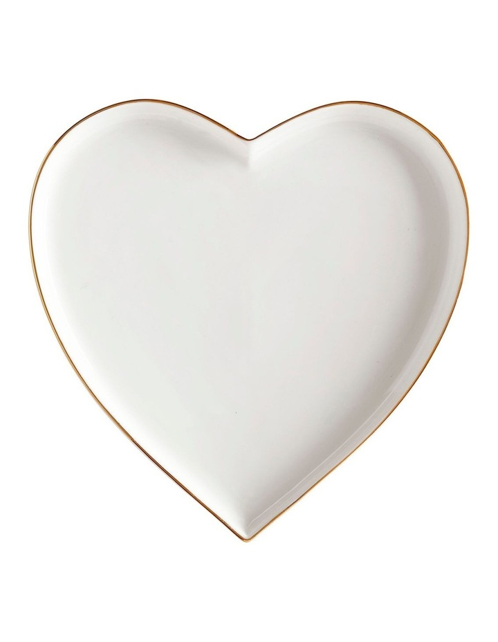 Oro Heart Plate 22cm Gift Boxed image 1