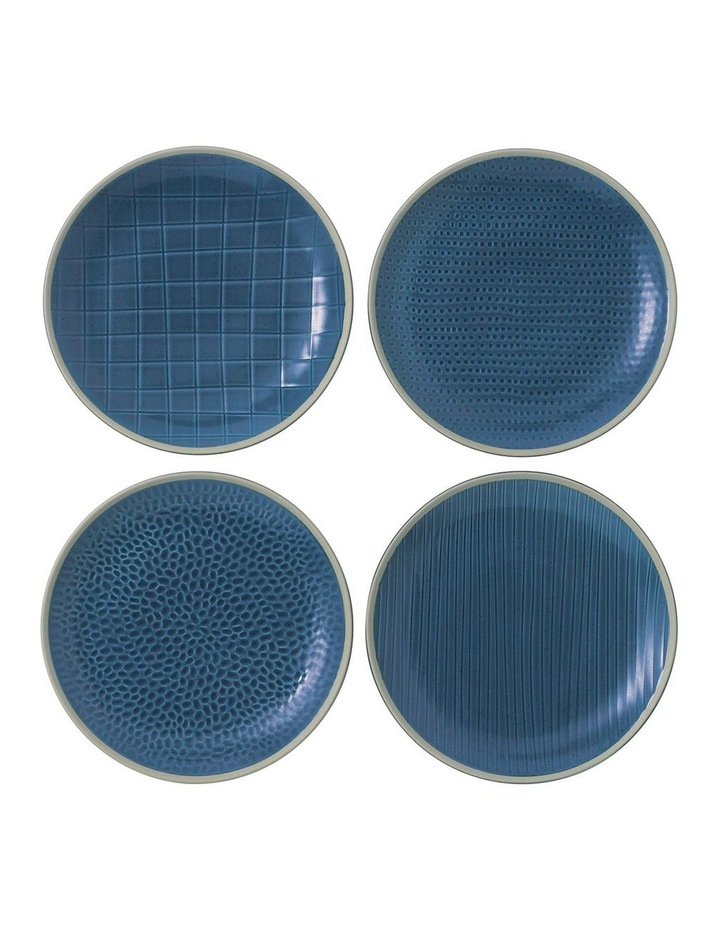Maze Grill Blue Plate 16cm Mixed (Set 4) image 1