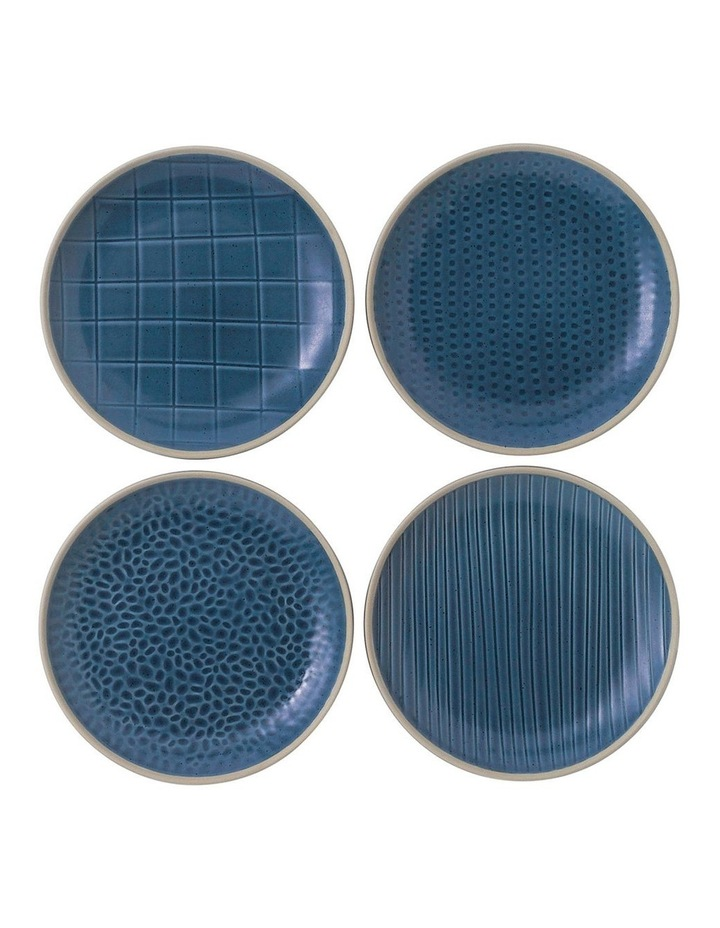 Maze Grill Blue Plate 22cm Mixed (Set 4) image 1