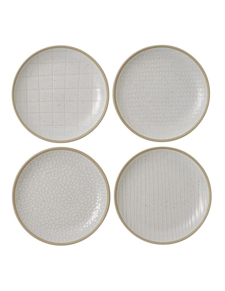 Maze Grill White Plate 16cm Mix (Set 4) image 1