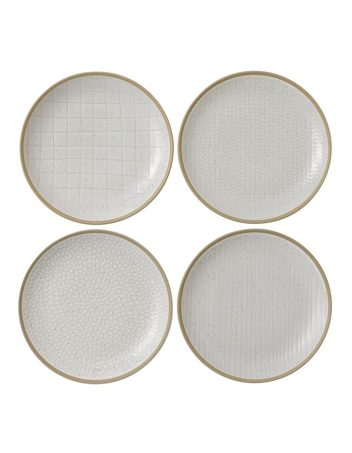 Maze Grill White Plate 22cm Mix (Set 4) image 1