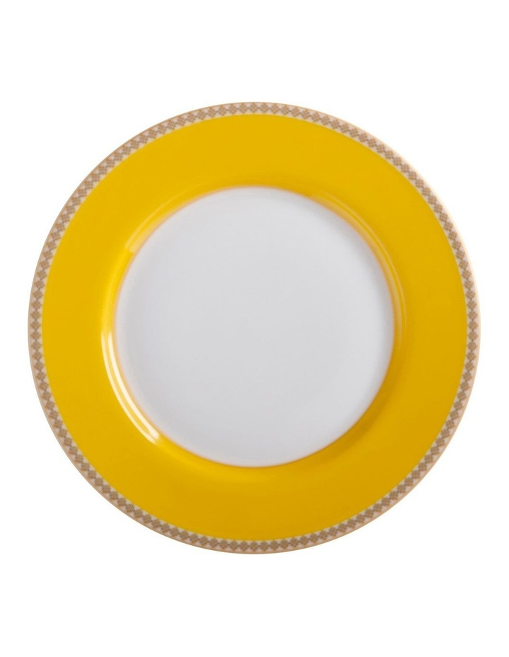 Teas & C's Contessa Classic Rim Plate 19.5cm Yellow Gift Boxed image 1