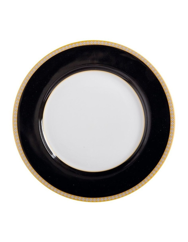 Teas & C's Contessa Classic Rim Plate 19.5cm Black Gift Boxed image 1