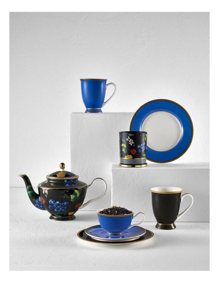 Teas & C's Contessa Classic Rim Plate 19.5cm Black Gift Boxed image 2