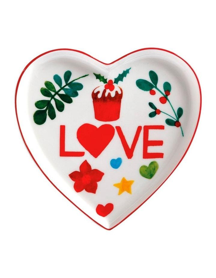Joy Love Peace Heart Plate 13cm Gift Boxed image 1