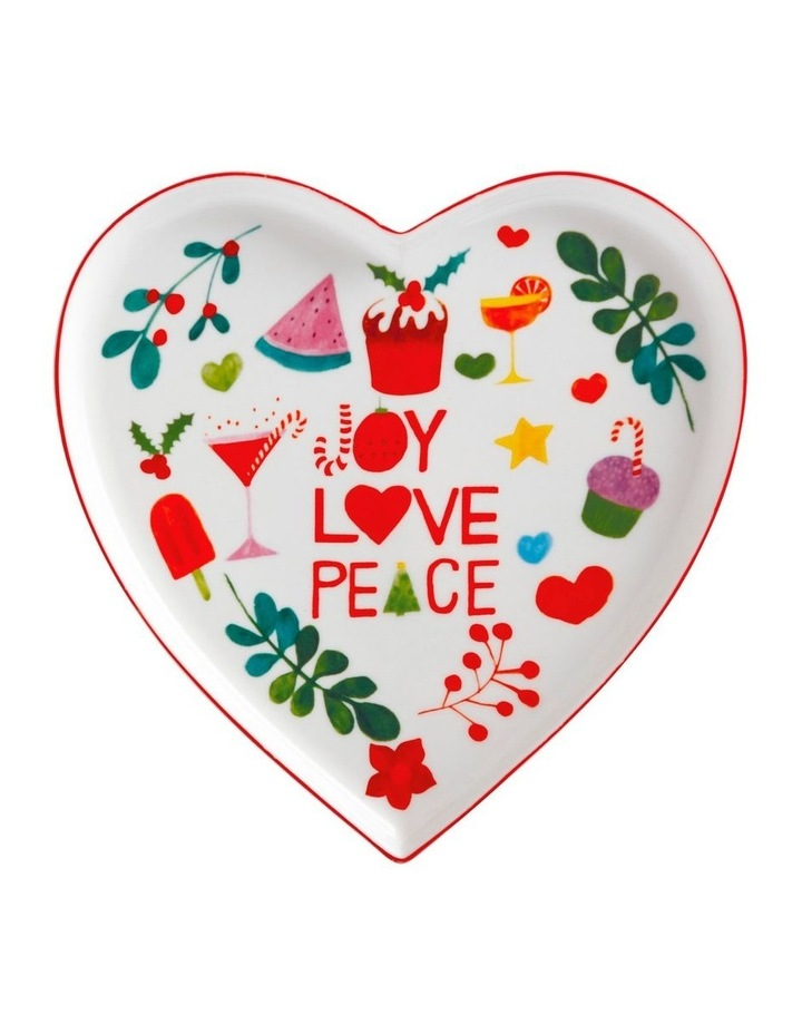 Joy Love Peace Heart Plate 22cm Gift Boxed image 1