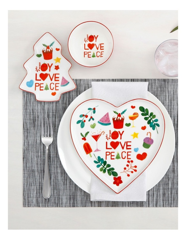 Joy Love Peace Heart Plate 22cm Gift Boxed image 2