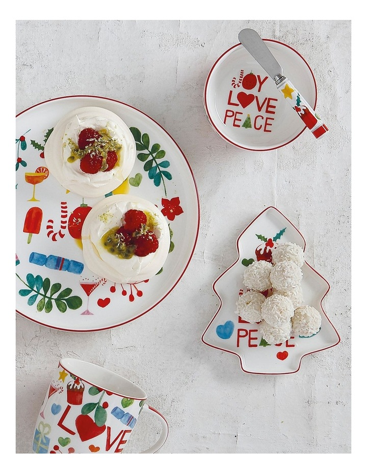 Joy Love Peace Round Plate 20cm Gift Boxed image 2