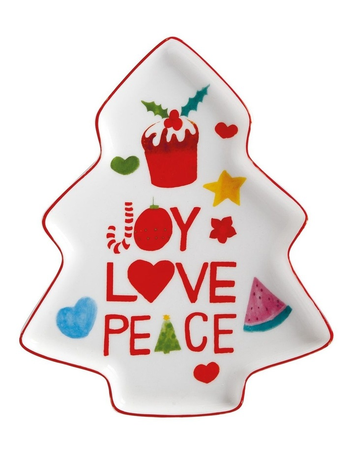 Joy Love Peace Tree Plate 16cm Gift Boxed image 1