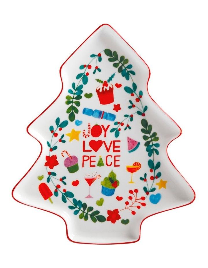 Joy Love Peace Tree Plate 25cm Gift Boxed image 1