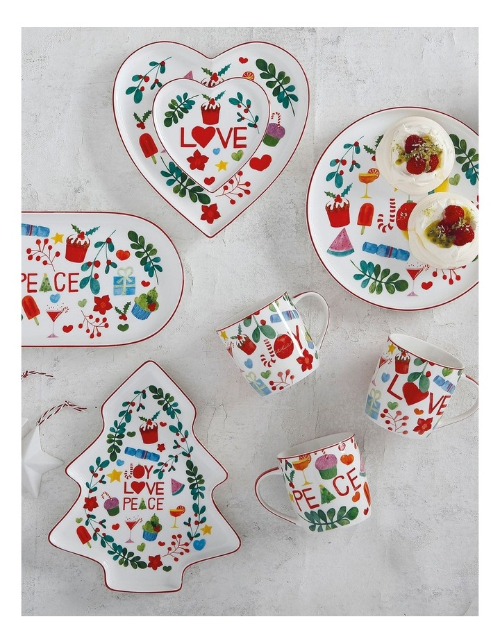 Joy Love Peace Tree Plate 25cm Gift Boxed image 2