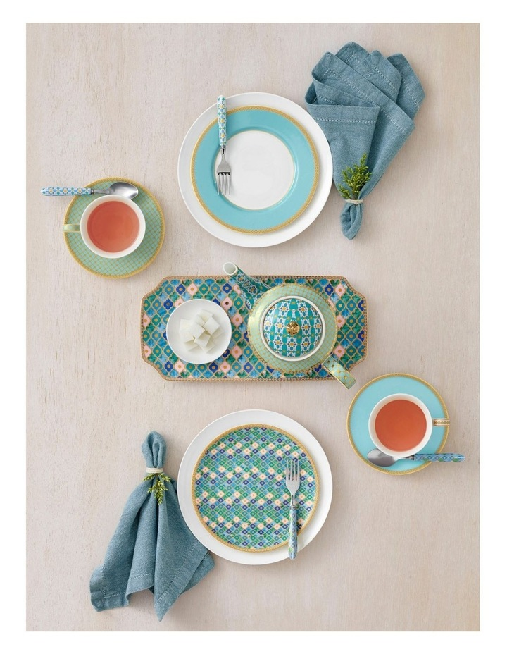 Teas & C's Kasbah Classic Rim Plate 19.5cm Turquoise Gift Boxed image 2