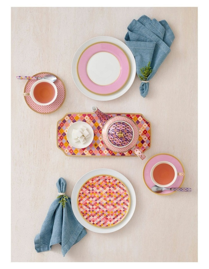 Teas & C's Classic Rim Plate 19.5cm Hot Pink Gift Boxed image 2