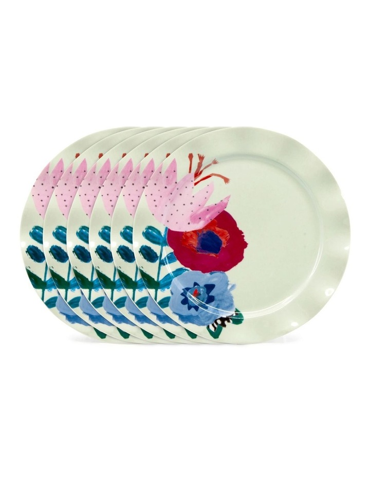 Willow Plate 20cm - Flute - Set of 6 image 1