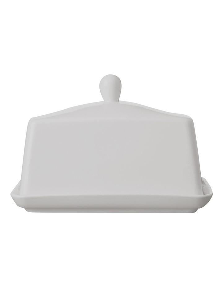 White Basics Butter Dish Gift Boxed image 1